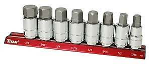 Titan 16130 6 Piece Sae Large Hex Bit Socket Set