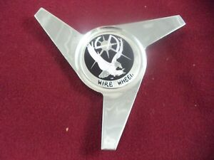 La Wire Wheels Spinner Chrome Black Logo Custom Wheel Center Cap 1 Cap
