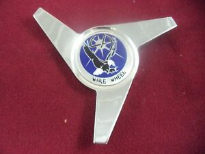 La Wire Wheels Spinner Chrome Blue Logo Custom Wheel Center Cap 1 Cap
