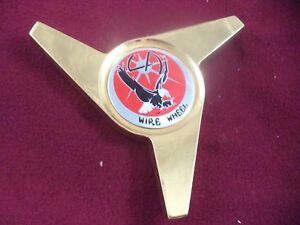 La Wire Wheels Spinner Gold Red Logo Custom Wheel Center Cap 1 Cap
