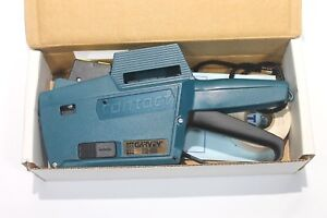 Garvey Price Labeling Gun 22 66 With Strap Box Roll Of Tape Manual Ex Shape