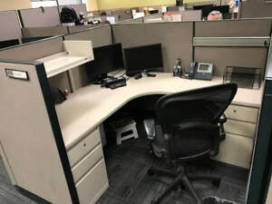 Used Office Cubicles Steelcase 9000 Enhanced 6x6 Cubicles