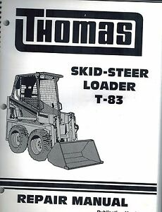 Thomas T85 Skid Steer Loader Repair Service Manual new 30611