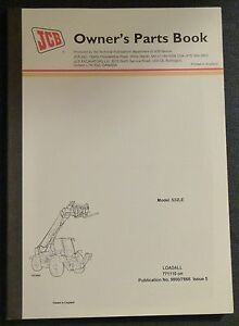 Jcb 532 Le Loadall Owner s Parts Manual new 9800 7866 Issue 5