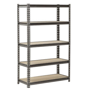 Heavy Duty 5 Tier Shelf Garage Shelving Unit Steel Racking Organzizer Gray