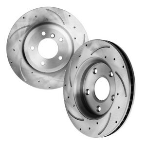 2front Drilled And Slotted Brake Rotors Fit Acura Honda Odyssey 3296