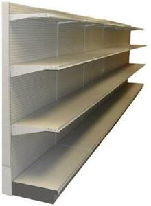 Used Store Lozier Gondola Shelving Liquor Wall Single Sided Perimeter