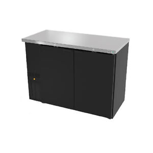 Asber Abbc 24 60 62 3 4 Dual Section Slim Line Back Bar Cooler W solid Doors