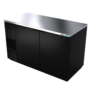 Asber Abbc 58 59 1 2 Dual Section Back Bar Cooler W Solid Doors