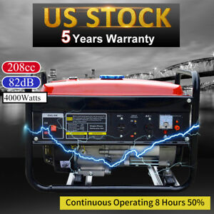 Portable Gas Generator 4000w Emergency Home Back Up Power Camping Tailgating Epa
