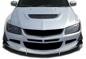Duraflex Gt500 Wide Body Front Bumper For 03 06 Mitsubishi Lancer Evolution 8 9