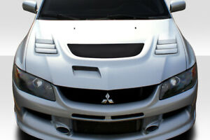 2003 2006 Mitsubishi Lancer Evolution 8 9 Duraflex C 1 Hood 1 Piece Body Kit