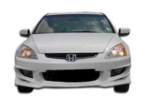 Duraflex Bomber Front Bumper Cover 1 Piece For 2003 2005 Accord 4dr