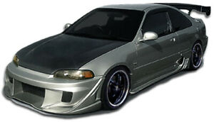 Duraflex W sport Body Kit 4 Piece For 1992 1995 Honda Civic 2dr