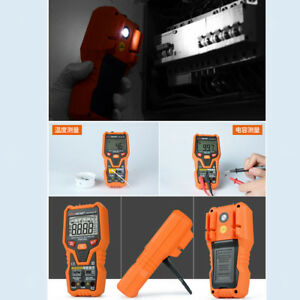 Lcd Digital Multimeter Voltmeter Ac dc Fire Wire Ncv Tester With Flashlight