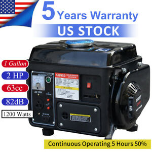 Portable Gas Generator 1200w Emergency Home Back Up Power Camping Air cooled