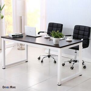 Kuppet Black Wood Computer Desk Pc Laptop Table Workstation Study Home Office