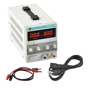 Mecor 10a 30v Dc Power Supply Adjustable Variable Dual Digital Test Lab
