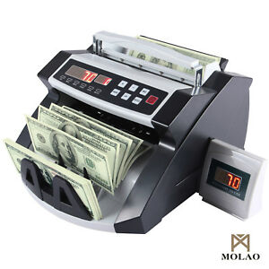 Mecor Cash Money Bill Counter Bank Currency Counting Machine Uv