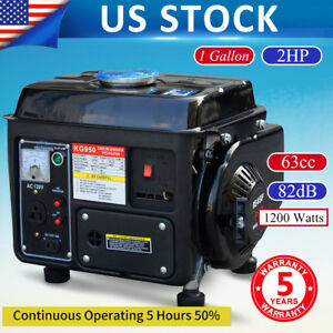 Portable Gas Generator 1200w Emergency Home Back Up Power Camping Air cooled B5