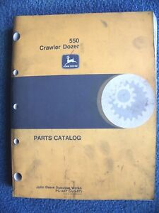 John Deere 550 Crawler Dozer Parts Catalog Pc 1437 jun 97