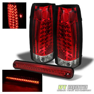 94 99 C10 C K Full Size Silverado Sierra Led Red Clear Tail Lights Brake Lamp