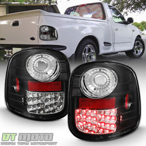 Black 1997 2003 Ford F 150 F150 Flareside Lumiled Led Tail Lights Brake Lamps