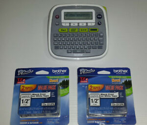 Brother P touch Pt d200 Electronic Label Maker Thermal Printer W 4 New Refills