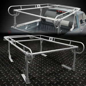 132 X 57 Universal Pickup Truck Trunk Bed Over Cab Utility Ladder Rack Silver