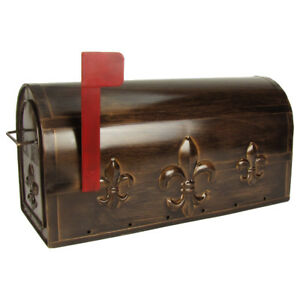 Large Package Metal Fleur Delis Us Mailbox Mail Post Letter Box House