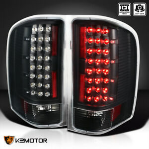 Black 2007 2014 Chevy Silverado 1500 2500 3500 Led Tail Lights Lamps Left right