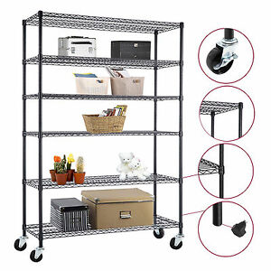 Kuppet 48 82 18 heavy Duty Chrome 6 Tier Steel Wire Rack Shelf Adjustable