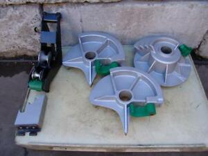 Greenlee 555 Bender Emt Shoes Set 1 2 To 2 Inch Good Working Order
