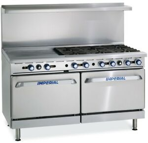Imperial Range Ir 6 g24 60 Gas Range 6 Burner W 24 Thermostatic Griddle