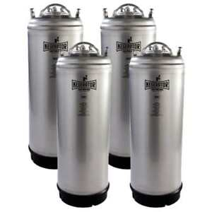 Kegerator com 5gstrkeg 4pk 5 Gallon Ball Lock Keg Nsf Metal Strap Set Of 4