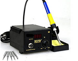 Electric Soldering Desoldering Station Iron Welding Smd Hot Air Gun 973d