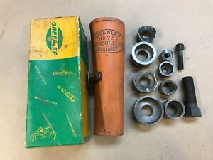 Greenlee 735 Conduit Punch Die Knockout Set With Case