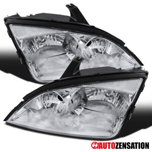 For 2005 2007 Ford Focus Zx4 St Pair Clear Lens Headlights Head Lamps Left right