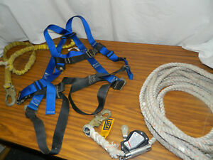 Fall Tech Protection Harness lanyard dbi Sala Rope Grab 5 8 Vertical Lifeline