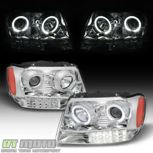 1999 2004 Jeep Grand Cherokee Halo Projector Headlights Lights Left right 99 04