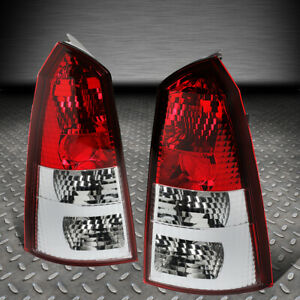 For 02 07 Ford Focus 5dr Wagon Pair Chrome Red Tail Light Brake Reverse Lamps