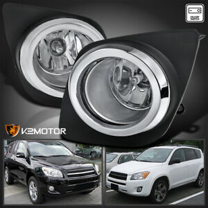 For 2009 2012 Toyota Rav4 Clear Bumper Fog Lights Driving Lamps switch h11 Bulbs