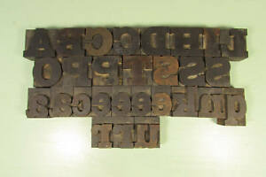 Antique Font Letterpress Block Wm H Page Printing Wood Type 1 5 8 Inch