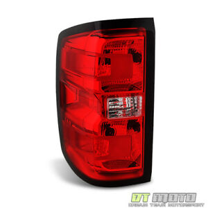 Replacement Driver Side 2014 2018 Chevy Silverado 1500 Tail Light Brake Lamp