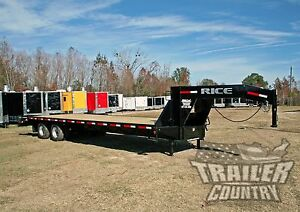 New 2018 10 Ton 30 Flat Bed Deck Over Equipment Dual Axle Gooseneck Trailer 20k