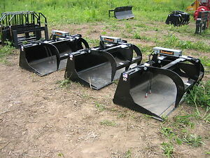66 Skidsteer Grapple Bucket Univ Fit For Bobcat case jd