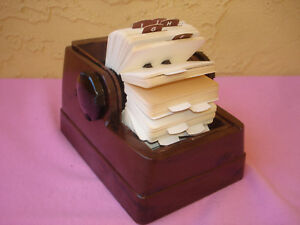 Vintage Zephyr Rolodex Brown Plastic Roll Top Rotary Card File Organizer Cards