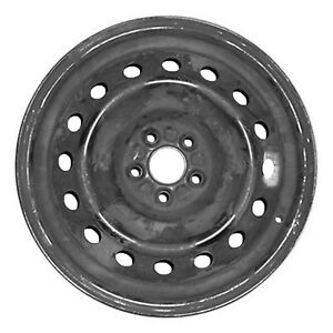 69543 New Compatible Steel Wheel Black Painted 16in Fits 2003 2008 Pontiac Vibe