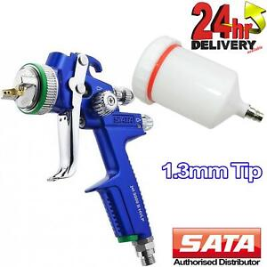 Sata Jet 3000 B Hvlp Nozzle 1 3mm Primer Paint Spray Gun Limited Edition Blue