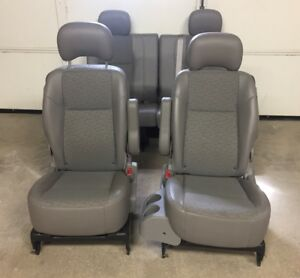 05 09 Chevy Uplander Van Gray Vinyl 2nd Row 3rd Row Oem Rear Seat Set